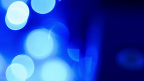 Defocused blue lights abstract motion backgrounds stock video footage