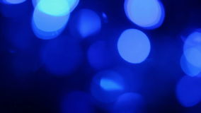 Defocused blue lights with bokeh Royalty Free Stock Image