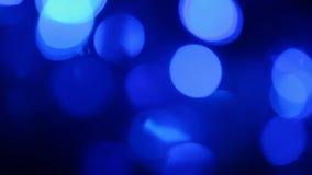 Defocused blue lights with bokeh stock footage