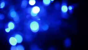 Defocused blue lights, motion background Royalty Free Stock Image