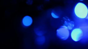 Defocused blue lights, motion background Stock Photo
