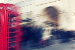Defocused blur background of people walking in a street in London Royalty Free Stock Image