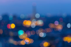 Defocused blur bokeh background. Rama VIII Bridge in Bangkok Thailand. Stock Photography