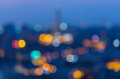 Defocused blur bokeh background. Rama VIII Bridge in Bangkok Thailand. Stock Photography