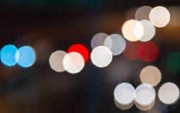 Defocused blur  bokeh of urban night Stock Images