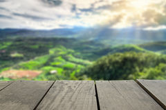 Defocused and blur image of scenery top view from terrace house. In chiangmai for background usage Stock Photography