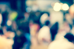 Defocused blur of unrecognized people background. Defocused blur of unrecognized crowd people in urban background Royalty Free Stock Images