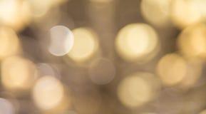 Defocused blured yellow bokeh background Royalty Free Stock Images