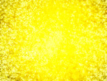Defocused,blurred abstract golden lights at night for background Royalty Free Stock Photography