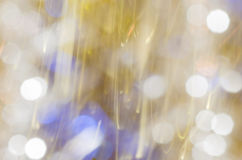 Defocused blurred Christmas lights background Stock Photo