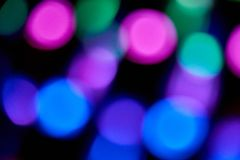 Defocused and blurred colour leds. Vintage blue bokeh color abstract night black new overlay toned day web fire lines wallpaper lights colorful shine rainbow stock photography