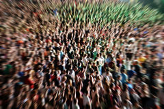 Defocused and blurred crowd of people Stock Photography