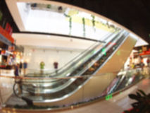 Defocused and blurred image of a large hall Royalty Free Stock Photography
