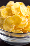 Defocused and blurred macro view of dry cornflakes Royalty Free Stock Photos