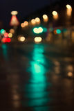 Defocused, blurred urban abstract traffic background Royalty Free Stock Photo