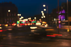 Defocused, blurred urban abstract traffic background Royalty Free Stock Photography