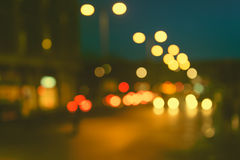 Defocused, blurred urban abstract traffic background Royalty Free Stock Photos