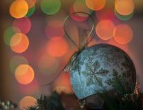 Defocused bożonarodzeniowe światła obraz royalty free