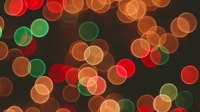 Defocused bokeh圣诞灯抽象背景录影 股票视频