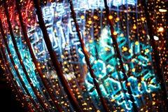 Defocused bokeh światła (świętowanie nowy rok 2015) Fotografia Stock
