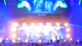 Defocused音乐会照明设备 库存图片