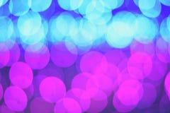 Defocused bokeh blaue rosa Zusammenfassung Lizenzfreies Stockbild