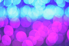 Defocused bokeh blauwe roze samenvatting Royalty-vrije Stock Afbeelding