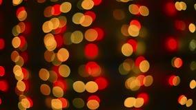 Defocused bokeh cristmas闪闪发光光抽象背景 股票视频