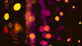 Defocused bokeh cristmas sparkles lights abstract background. stock footage