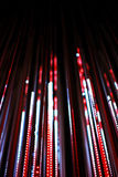 Defocused bokeh graphic of lights line Royalty Free Stock Image