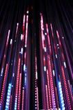 Defocused bokeh graphic of lights line Royalty Free Stock Photos