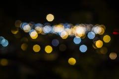 Defocused bokeh lichten, kleurenlicht bokeh Royalty-vrije Stock Foto