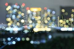 Defocused bokeh lichten van de Moderne Bouw in Bangkok Royalty-vrije Stock Fotografie