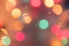 Defocused bokeh light background for Christmas and New Year Cele. Bration Stock Images