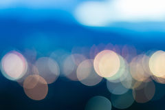 Defocused bokeh lights Royalty Free Stock Image