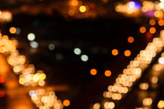 Defocused bokeh lights Stock Images