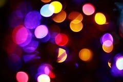 Defocused bokeh of lights stock images