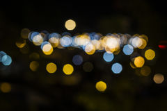Defocused bokeh lights, color light bokeh. Royalty Free Stock Photo