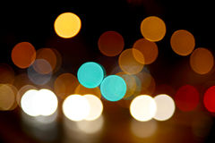 Defocused bokeh lights Stock Photos