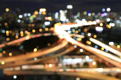 Defocused bokeh lights from modern builiding in Bangkok, Thailan Royalty Free Stock Photo