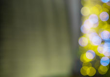Defocused bokeh lights. At night background Stock Photos