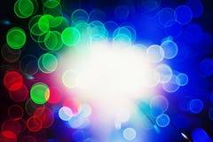 Defocused bokeh lights: optic fiber Royalty Free Stock Images