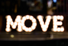 Defocused bokeh Move of light Royalty Free Stock Images