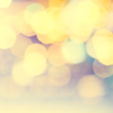 Defocused Bokeh twinkling lights Vintage background. Festive bac Royalty Free Stock Photos