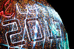 Defocused bokeh van lichten (vierings nieuw jaar 2015) Stock Afbeelding