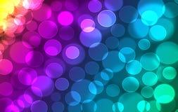 Defocused bookehtextur för abstrakt färgrik regnbåge Royaltyfria Bilder