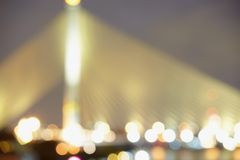 Defocused bridge lights Royalty Free Stock Photography