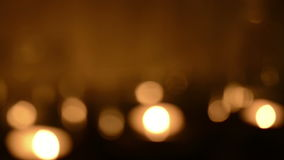 Defocused Candle Background stock video footage