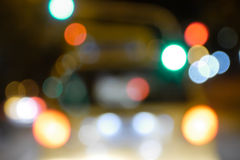 Defocused car lights Royalty Free Stock Photos