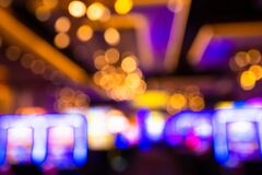 Free Defocused Casino Blur With Slot Machines And Lights Stock Photography - 182354292
